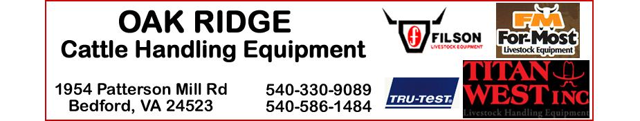 Oak Ridge Cattle Handling Equipment